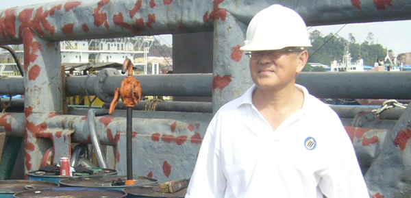 Mr Andrew Wong on site at Strike Petroleum