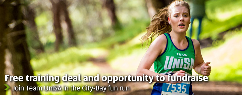 Free training deal and opportunity to fundraise - Join Team UniSA in the City-Bay fun run