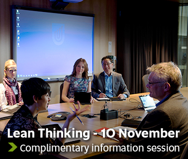 Lean Thinking - 10 November. Complimentary information session