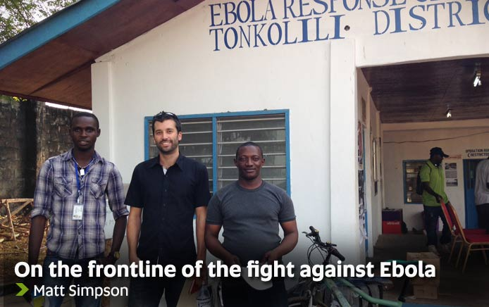 On the frontline of the fight against Ebola - Matt Simpson