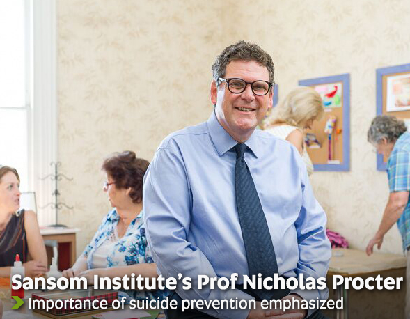 Sansom Institute's Prof Nicholas Procter - Importance of suicide prevention emphasized
