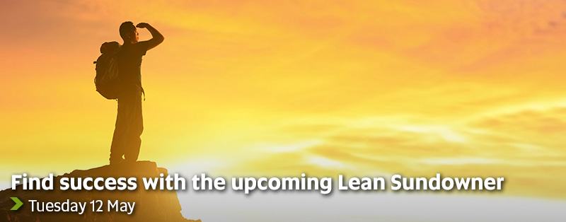 Find success with the upcoming Lean Sundowner - Tuesday 12 May