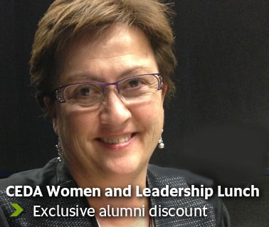 CEDA Women and Leadership Lunch - Exclusive alumni discount