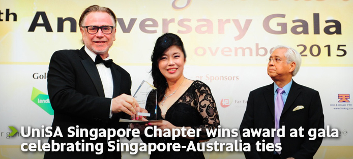 UniSA Singapore Chapter wins award at gala celebrating Singapore-Australia ties