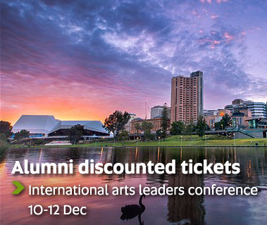 Alumni discounted tickets - International arts leaders conference, 10-12 Dec