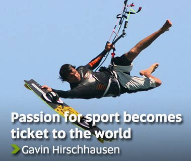 Passion for sport becomes ticket to the world - Gavin Hirshhausen