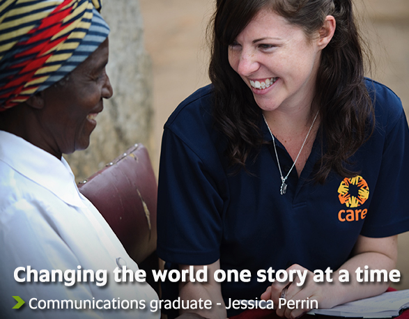 Changing the world one story at a time - Communications graduate - Jessica Perrin