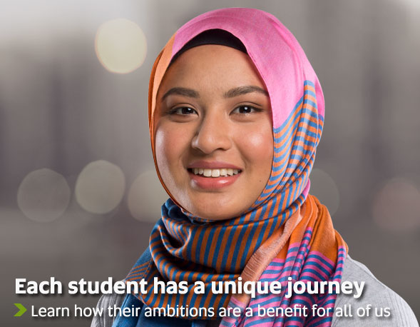 Each student has a unique journey - Learn how their ambitions are a benefit for all of us
