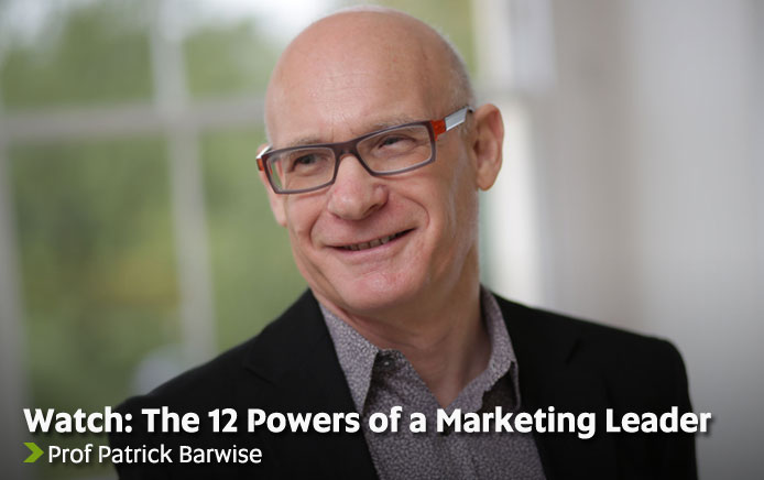 Watch: The 12 Powers of a Marketing Leader - Prof Patrick Barwise