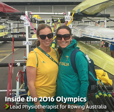 Inside the 2016 Olympics - Lead Physiotherapist for Rowing Australia