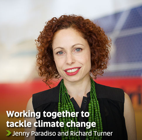 Working together to tackle climate change - Jenny Paradiso and Richard Turner