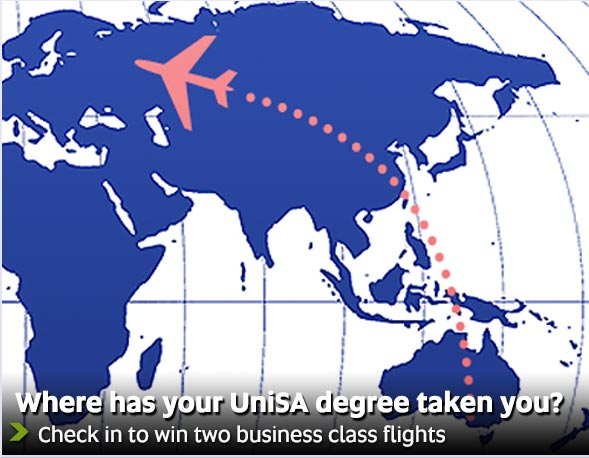 Where has your UniSA degree taken you? - Check in to win two business class flights