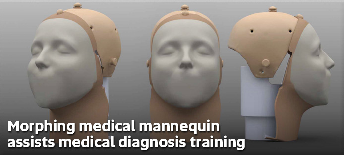 Morphing Medical Mannequin assists medical diagnosis training