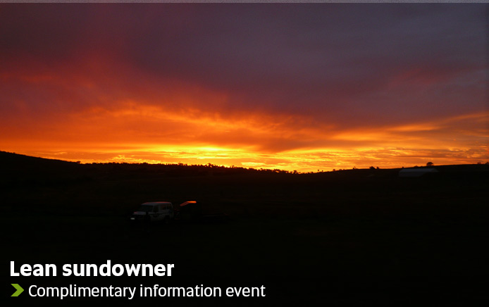 Lean Sundowner - Complimentary information event