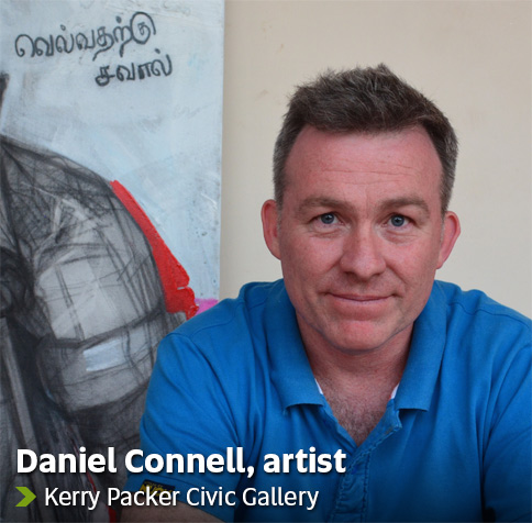 Daniel Connell, artist - Kerry Packer Civic Gallery