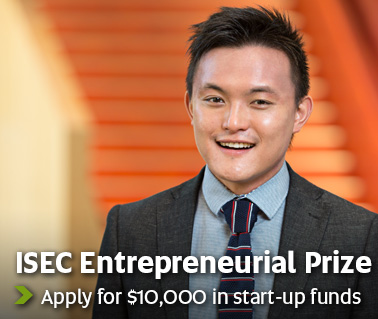 ISEC Entrepreneurial Prize - Apply for $10,000 in start-up funds