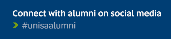 Connect with alumni on social media - #unisaalumni